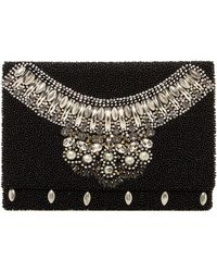 G-Lish - Beaded Foldover Clutch - Lyst