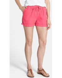 Caslon - Drawstring Linen Shorts - Lyst
