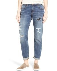 Caslon - (r) Distressed Boyfriend Jeans (medium Revolve) - Lyst