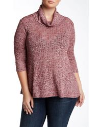 Everleigh - Cowl Neck Knit Pullover (plus Size) - Lyst