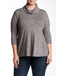 Everleigh - Wide-ribbed Turtleneck - Lyst