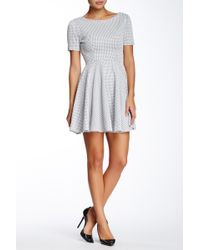 Everleigh - Metallic Grid Skater Dress - Lyst