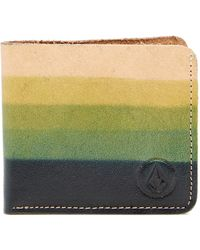 Volcom - Indie Leather Wallet - Lyst