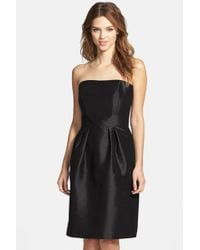 Alfred Sung - Strapless Dupioni Dress - Lyst