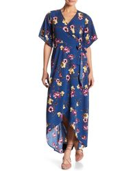Peach Love California | Surplice Neck Wrap Dress | Lyst