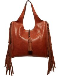 Frye - Farrah Fringe Leather Shoulder Bag - Lyst