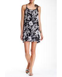 Mimi Chica - Floral Racerback Mini Dress - Lyst