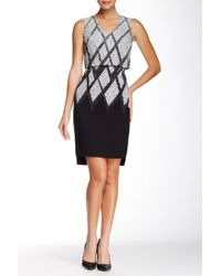 Debbie Shuchat - Printed Fit & Flare Dress - Lyst