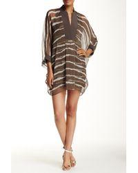 Halston - Printed Caftan Dress - Lyst
