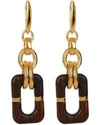 Diane von Furstenberg - Wood Chain Link Drop Earrings - Lyst