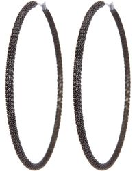 Diane von Furstenberg - Lava Knit Large Hoop Earrings - Lyst