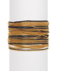 Diane von Furstenberg - Two-tone Multi Strand Bracelet - Lyst