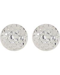 Simon Sebbag - Sterling Silver Textured Button Earrings - Lyst