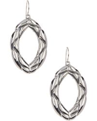 Simon Sebbag - Sterling Silver Braided Oval Earrings - Lyst