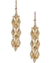 Melinda Maria - Pyramid Chandelier Earrings - Lyst