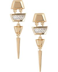 Melinda Maria - 14k Gold Plated Caroline Drop Earrings - Lyst