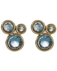 Melinda Maria - Jasmine London Blue Topaz Cluster Stud Earrings - Lyst