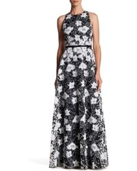 ERIN Erin Fetherston - Camila Floral Embroidered Sleeveless Gown - Lyst