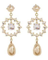 CZ by Kenneth Jay Lane - Cz & Baroque Shell Pearl Earrings - Lyst