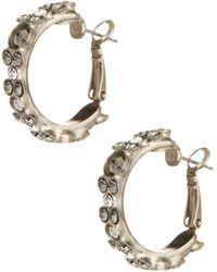 Sorrelli - Stone Hoop Earrings - Lyst