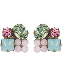 Sorrelli - Mixed Swarovski Crystal Accented Cluster Stud Earrings - Lyst