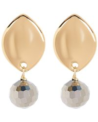 Simon Sebbag - Gold Plate Sterling Silver Stone Drop Earrings - Lyst