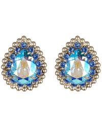 Sorrelli - Electric Blue Swarovski Tear Drop Stud Earrings - Lyst