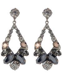 Sorrelli - Embellished Open Teardrop Earrings - Lyst