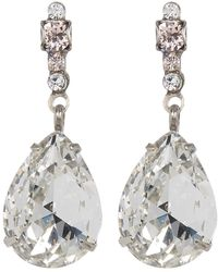 Sorrelli - Crystal Pear Drop Earrings - Lyst