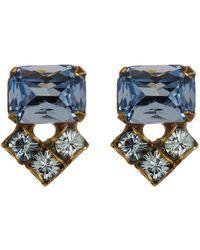 Sorrelli - Rectangle Crystal Stud Earrings - Lyst