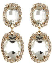 Cara - Double Drop Earrings - Lyst