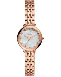 Fossil - Women's Jacqueline Mini Bracelet Watch - Lyst