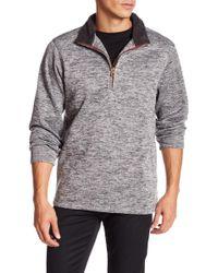 Weatherproof - Fleece Trim 1/4 Zip Sweater - Lyst