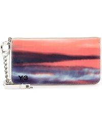 Y-3 - Long Graphic Leather Wallet - Lyst