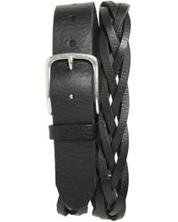Caputo & Co. - Braided Leather Belt - Lyst