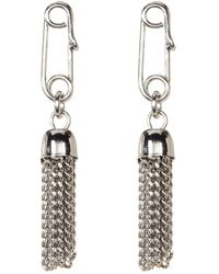 French Connection - Safety Pin Tassel Drop Earrings - Lyst