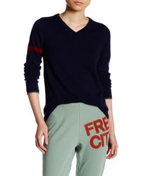 FREE CITY - Single Strike Cashmere Sweater - Lyst