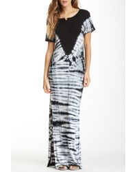 Fraiche By J - Short Sleeve Tie-dye Maxi Dress - Lyst