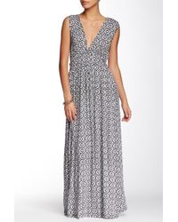 Fraiche By J - V-neck Lamic Maxi Dress - Lyst