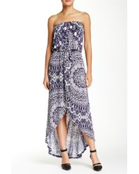 Fraiche By J - Strapless Wrap Maxi Dress - Lyst