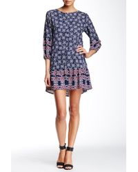 Fraiche By J - Easy Printed Trapeze Dress - Lyst