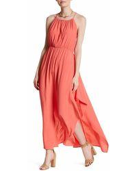 Fraiche By J - Cross Back Maxi Dress - Lyst