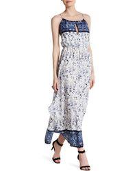 Fraiche By J - Cross Back Printed Maxi Dress - Lyst