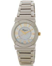 Ferragamo - Women's Vega Mother Of Pearl Dial Watch - Lyst