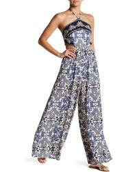 Dress Forum - Halter Open Back Paisley Jumpsuit - Lyst
