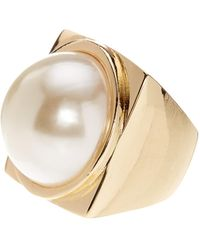 French Connection - Simulated Pearl Ring - Size 7 - Lyst