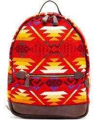 Pendleton - Printed Genuine Leather Backpack - Lyst