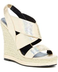 Michael Antonio - Gerey Metallic Wedge Sandal - Lyst