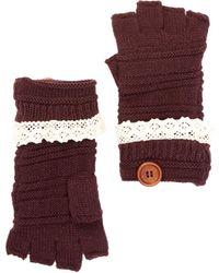 Rampage - Fingerless Crochet Gloves - Lyst