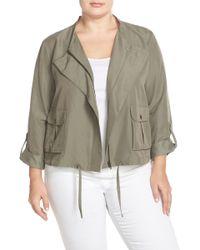Halogen - Soft Collarless Jacket (plus Size) - Lyst
